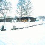 Vorhof im Schnee