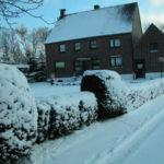 Unser verschneites Haus