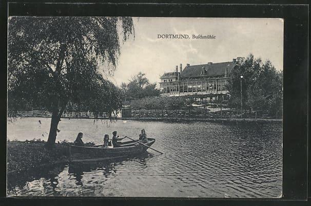 Buschmuehle-Postkarte Ruderboot